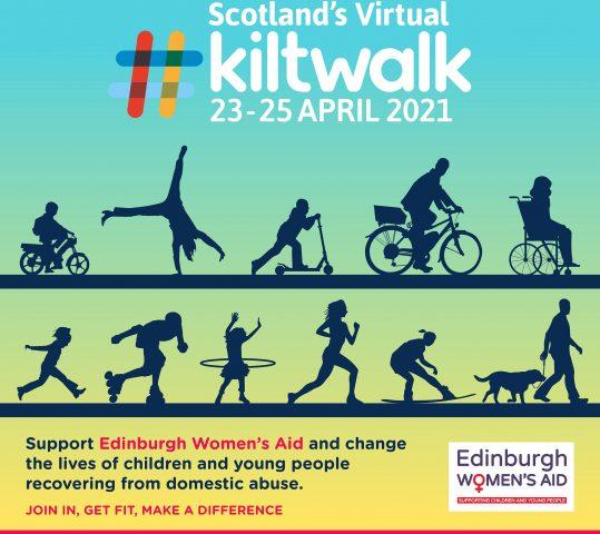 Virtual Kiltwalk  Fri 23 April – Sun 25 April 2021